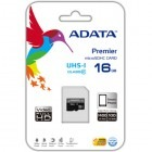 Card memorie ADATA Micro SDHC Premier 16GB UHS-I U1 Clasa 10  + adaptor SD