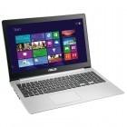 ASUS 15.6'' VivoBook S551LA, HD Touch, Procesor Intel® Core™ i5-4210U 1.7GHz Haswell, 6GB, 1TB + 24GB SSD, HD 4400, Win 8.1, Silver