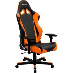 Scaun gaming DXRacer Racing, negru cu portocaliu