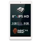 Tableta Allview Viva Q8 Pro, 8 inch IPS HD MultiTouch, Cortex A7 1.2GHz Quad Core, 1GB RAM, 8GB flash, Wi-Fi, Android 4.4, White