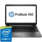HP 15.6'' Probook 450 G2, HD, Procesor Intel® Core™ i7-4510U (4M Cache, up to 3.10 GHz), 8GB, 1TB, Radeon R5 M255 2GB, Metalic Silver, Geanta inclusa