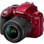 Nikon D3300 rosu + obiectiv AF-S DX NIKKOR 18-55mm f/3.5-5.6G VR II