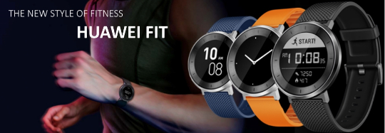 Smartwatch huawei fit curea silicon black large pc garage