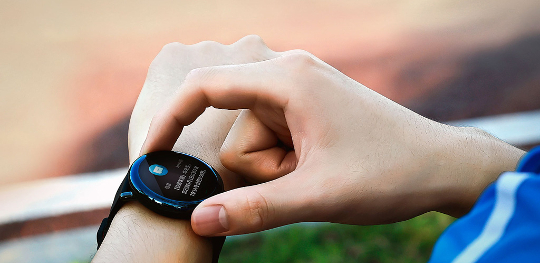 Smartwatch xiaomi amazfit pace negru curea silicon rosu