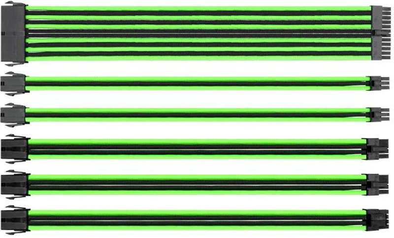 Cablu componente Thermaltake TtMod Sleeve Cable Kit Green-Black