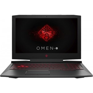 Notebook / Laptop HP Gaming 15.6'' OMEN 15-ce0xx, FHD IPS, Procesor  Intel® Core™ i7-7700HQ (6M Cache, up to 3.80 GHz), 8GB DDR4, 256GB SSD, GeForce GTX 1050 Ti 4GB, FreeDos, Shadow Black, versiunea 2017