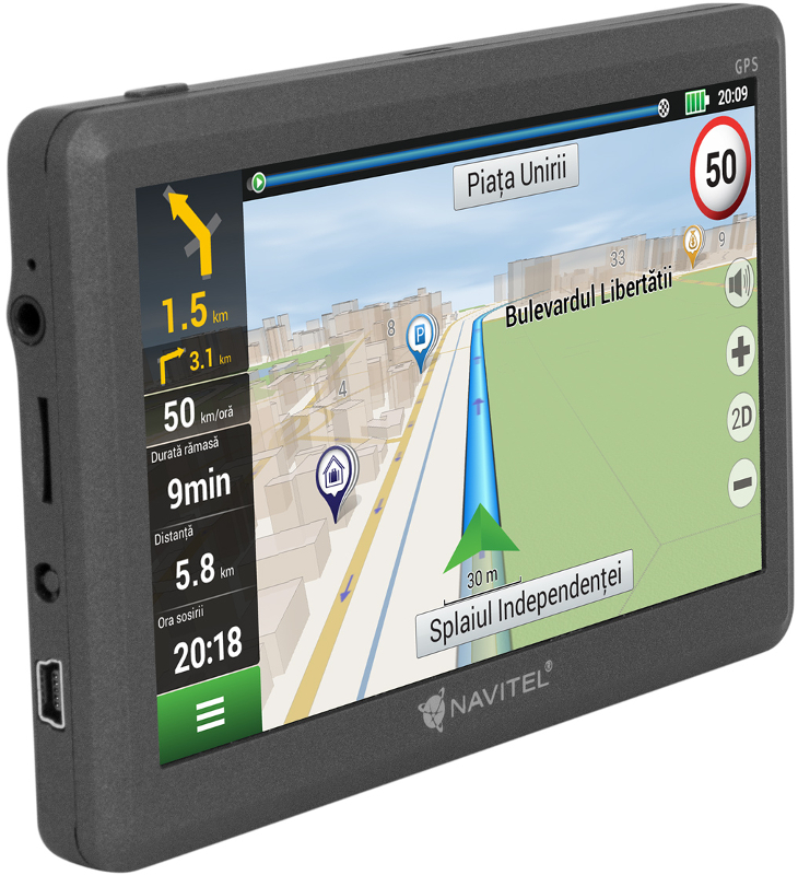 Navigator GPS NAVITEL E200 GPS 5 inch + Harta Estica a Europei