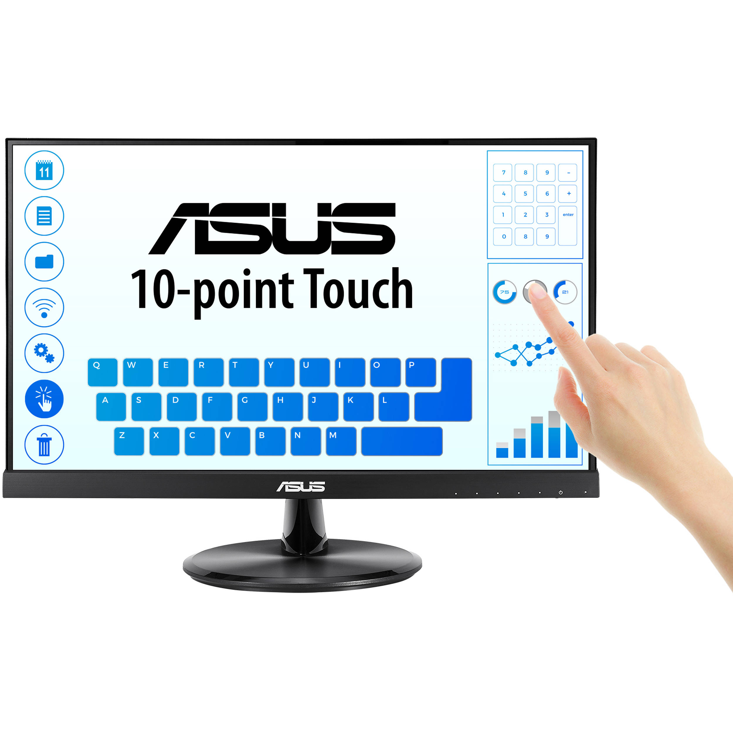 Monitor Touchscreen ASUS VT229H 21.5 inch 5 ms Black