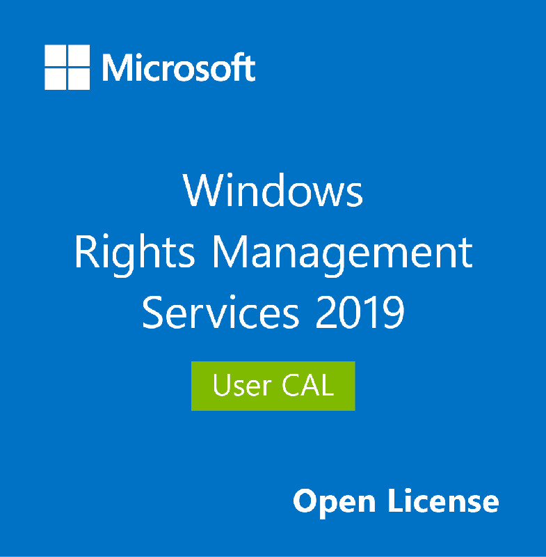 Microsoft CAL User, Windows (RMS) Rights Management Services 2019, OLP NL, SNGL, 1 User