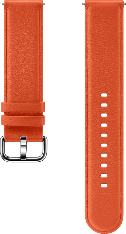 Curea Samsung Leather Strap Orange pentru Galaxy Watch Active 2