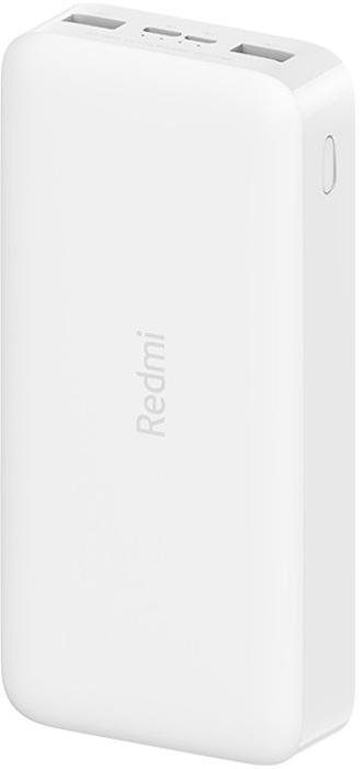 Baterie externa Xiaomi Redmi 20000 mAh, 2x USB, 1x USB-C, 18W Fast Charge, White