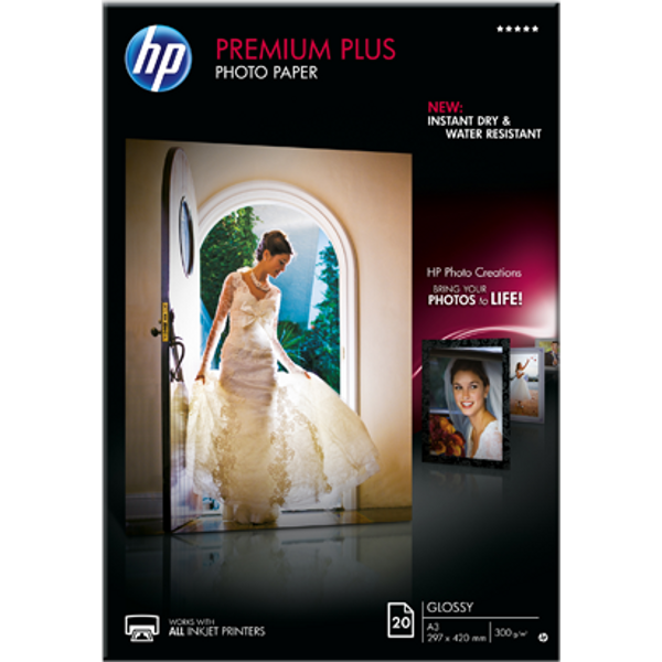 Hartie HP Premium Plus Glossy Photo A3 20 coli
