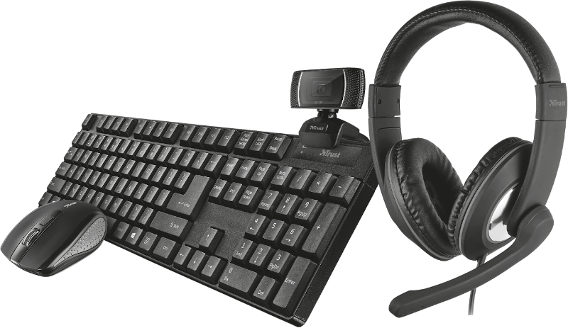 Kit tastatura + mouse Trust Qoby 4-in-1 Home Office