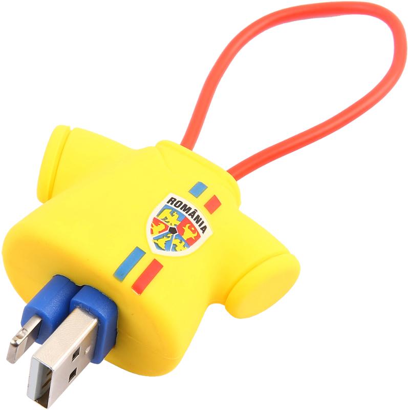Cablu de date / adaptor Tellur USB Male la Lightning Male, MFi, 0.16 m, Tricolor